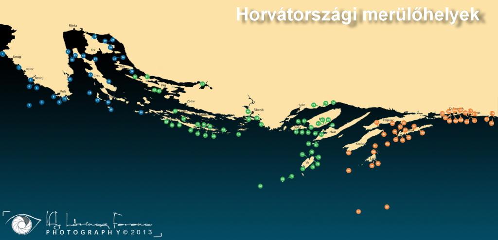 Horvátország dive map LF